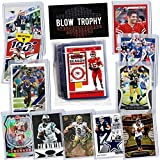 NFL Quarterback Football Card Bundle, Assorted Set of 12 Mint Star QB Football Cards Gift Set, Includes one Relic, Serial, or Rookie, Protected by Sleeve and Toploader with Fantasy Football eBook