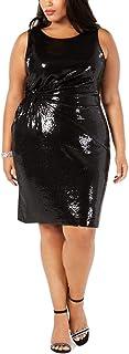 فساتين Taylor للنساء مقاس كبير بدون أكمام مزين بالترتر فستان كوكتيل
