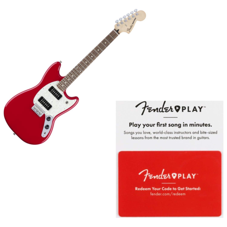 Cheap Fender Offset Series 90 MUSTANG Pau Ferro Torrino Red Electric Guitar w/Fender Black Friday & Cyber Monday 2019