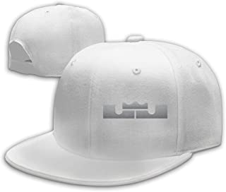 Unisex Classic Color-Lebron-James-Logo Adjustable Baseball Cap White