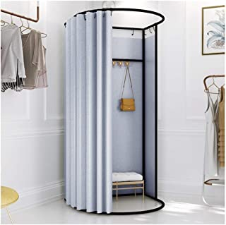 GDMING Fitting Room Curtain Kits With Metal Frame Portable Mobile Changing Room Big Space Stable Simple Locker Room For Sh...