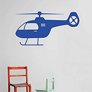 Design with Vinyl Cryst 572 1289 Blue Helicopter Aircraft Boys Kids Children Vinyl Wall Decal Art Home Decor Bedroom Livin...