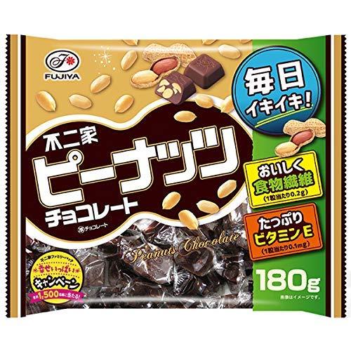 不二家 ピーナッツチョコレート 180g 6袋