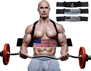 Fire Team Fit Arm Blaster for Curl Assist, Bicep and Tricep Strengthener for use with Barbell and Dumbbell Workouts, Muscle Isolation for Strengthening Arms