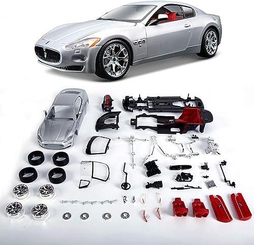entrega de rayos Sunta 1 24 simulación Maserati Modelo de Coche Coche Coche montado aleación Coche Deportivo Modelo Maserati Coche   23.5X9.8X7.8cm,A  mejor opcion