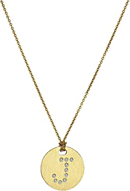 Tiny Treasures 18K Yellow Gold Initial J Pendant Necklace