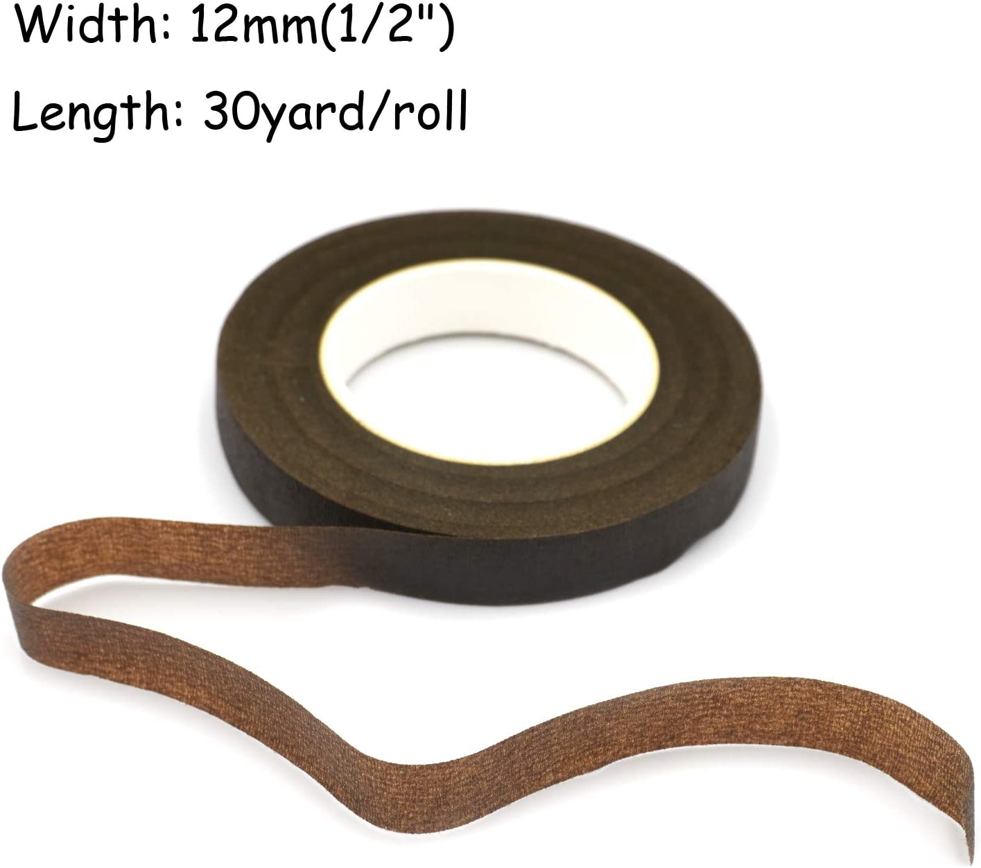 1//2 Wide 30Yard//Roll 4 Rolls of Floral Tapes for Bouquet Stem Wrapping and Florist Craft Projects Black
