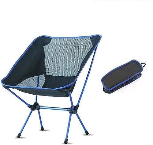 1949shop Chaise de pêche en Plein air Chaise de pêche Chaise Pliante multifonctionnelle Portable Chaise Lune Bleue
