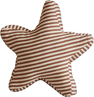 Exttlliy Starfish Shaped Stripes Throw Pillow Decorative Pillow Back Cushion Stuffed with PP Cotton for Couch Sofa Bed (Light Coffee)