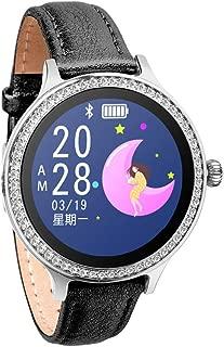 贅沢な革バンドM8スマートな腕時計の女性ののモニターのスマートウォッチ睡眠監視スマートウォッチ歩数カウント運動時間運動マイレージカロリー消費睡眠モニタリング保存30日間運動睡眠データキャリブレーションApple、Android携帯と互換性