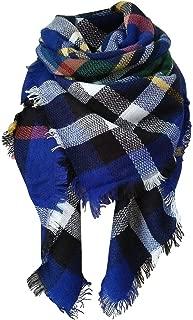 Wiwsi Long Blanket Tartan Fashion Scarf Wrap Shawl Plaid Cozy Checked Scarf Cape