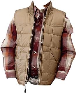 Roper Boys` Rangewear Down Zip Front Vest Tan X-Large