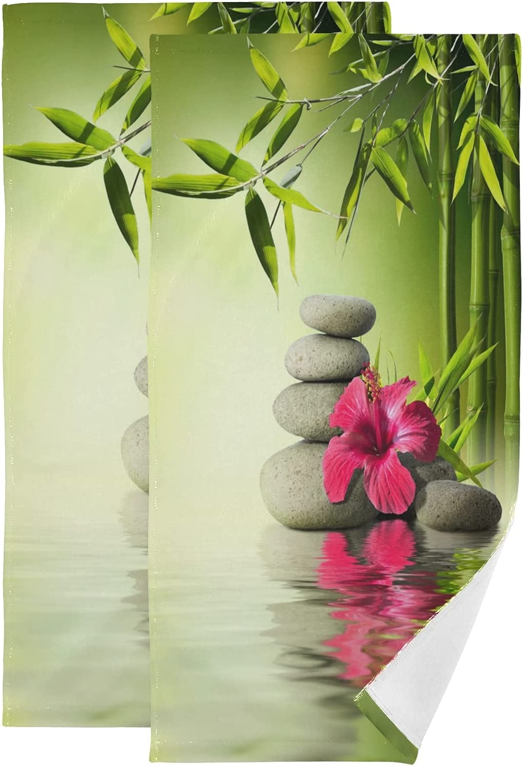 ALAZA Stones Red Hibiscus Regular dealer and Water_13519 SEAL limited product The Hand Bamboo Towels