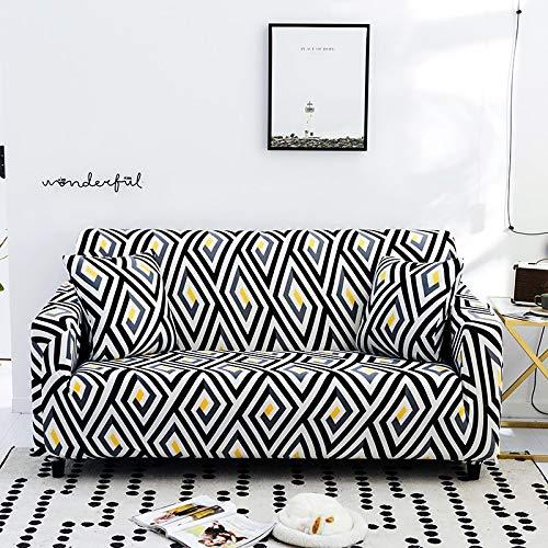 Housse de canapé élastique Moderne pour Salon canapé d'angle sectionnel Housse de Protection de Chaise Housse de canapé A13 3 Places