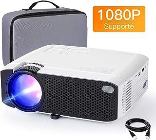 Vidéoprojecteur APEMAN Supporté 1080P FHD, 3800 Lumens Mini Portable Projecteur avec..