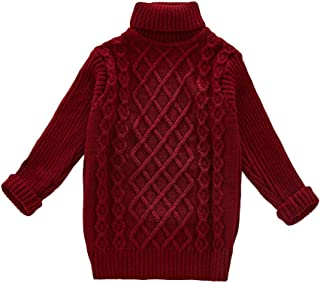 Girls Essentials Long Sleeve Cable Knit Turtleneck Sweater