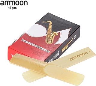 ammoon Piezas 10-pack 3.0 Fuerza las Cañas de Bambú para Bb Tenor Accesorios Saxofón Sax