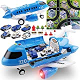 Toddler Toys for 3-5 Year Old Boys,Large Airplane Toys for Boys,Trucks Playset Kids Toys,Learning Toys Gifts for 3 4 5 6 7 8 9 Years Old Kids Birthday