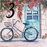 Targa di casa dipinta a mano in terracotta smaltata - 15x15x0,5 cm - Scegli il tuo numero!...