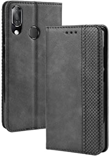 BZN Magnetic Buckle Retro Crazy Horse Texture Horizontal Flip Leather Case for Vodafone Smart X9, with Holder & Card Slots...
