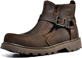 Z.SUO Deux Usure Cuir Boots,Bottes Femme Homme Mixte Adulte