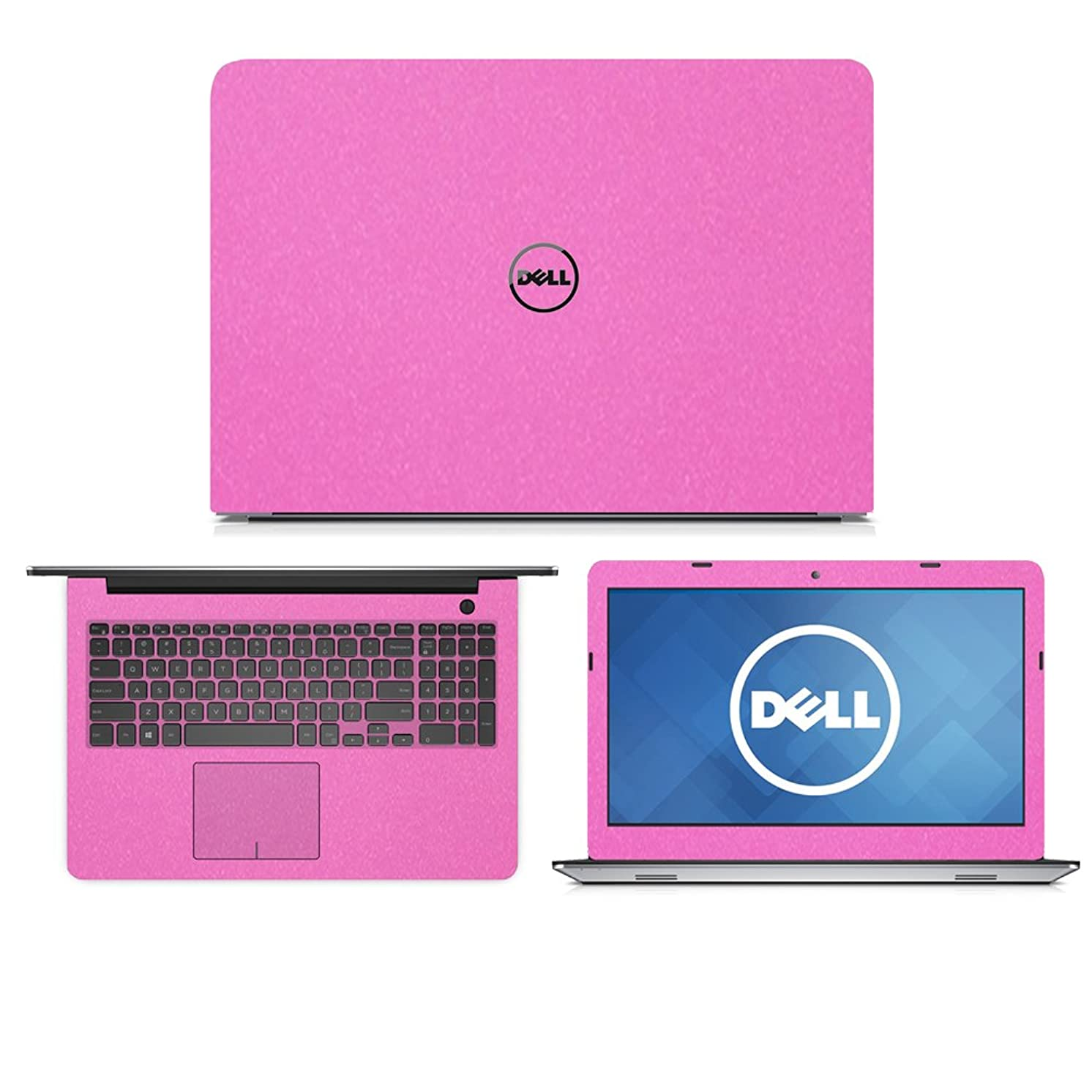 Sparkling Pink Fiber skin decal wrap skin Case for Dell Inspiron 15 5555 5558 5559 15.6