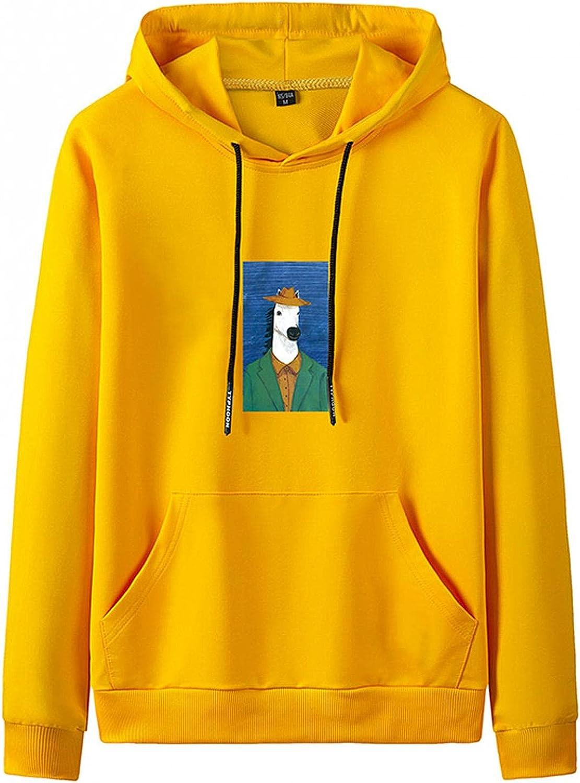 Men's Hooded Sweatshirts Long Sleeve Soft Hoody Classic Crewneck Drawstring Pullover Hoodies with Kanga Pockets