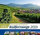 Deutschlands Radfernwege 2019, Wandkalender im Querformat (54x48 cm) - Mit Hintergrundinformationen zu den Fahrradtouren, mit Monatskalendarium - Ackermann Kunstverlag