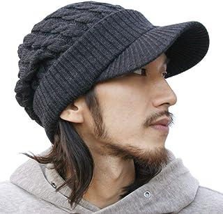 ピースクロージング ツバ付き細ケーブルニット帽子ジープ 男女兼用 メンズ レディース