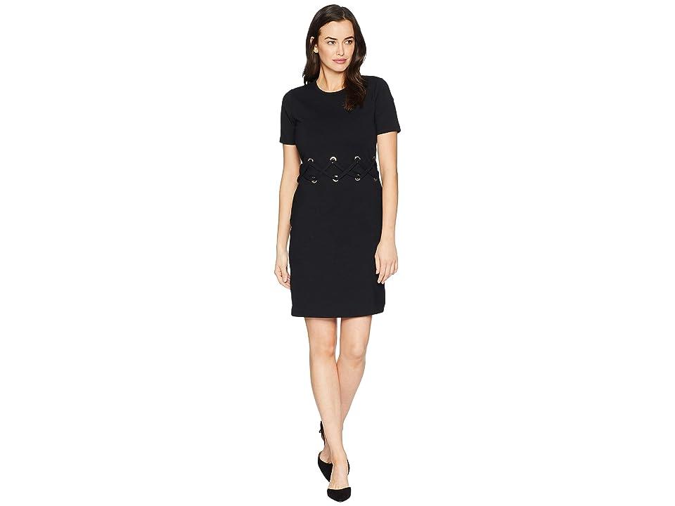 MICHAEL Michael Kors Waist Lace-Up Dress (Black) Women