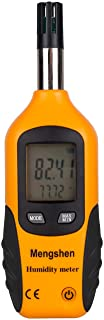Mengshen Digital Psychrometer - Handheld Temperature and Humidity Meter Gauge with Dew Point and Wet Bulb Temperature - Ba...
