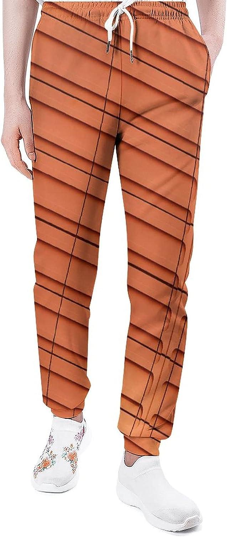 Abstract Orange Sweatpants Nashville-Davidson Mall Men Joggers Same day shipping Pants Lounge Classic Athl