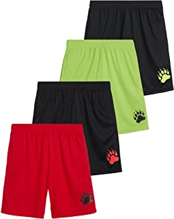 Boys' Active Shorts – 4 Pack Performance Dry-Fit Athletic...
