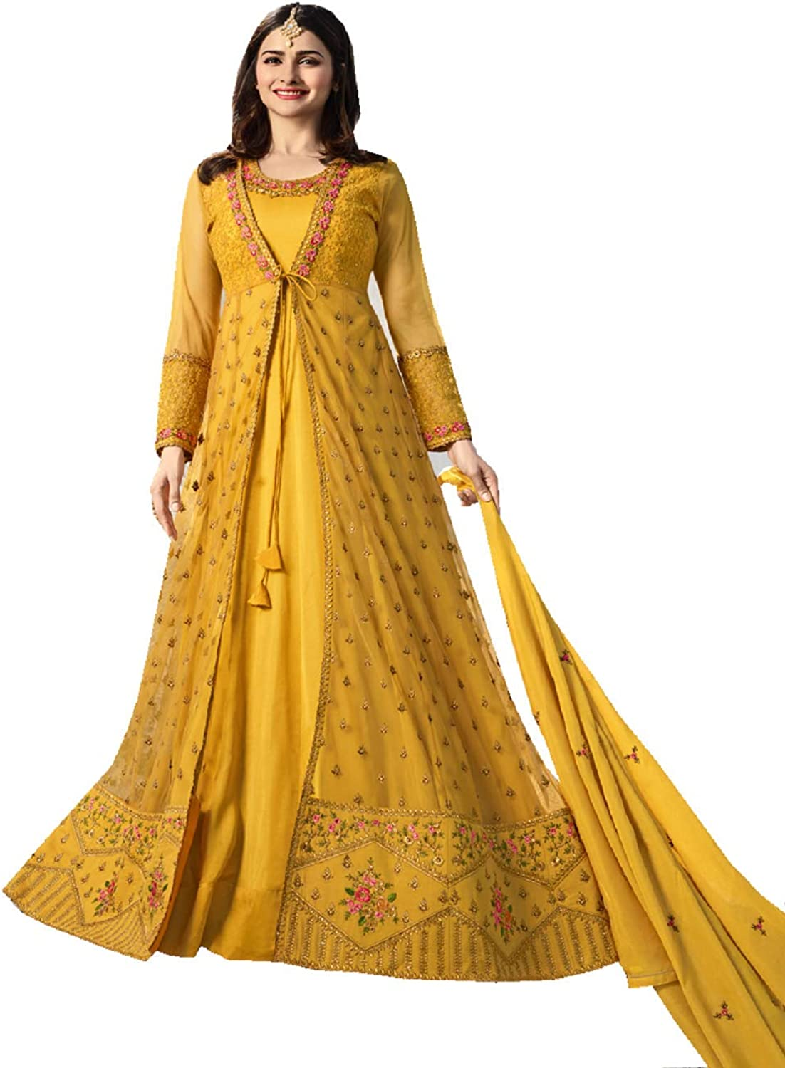 Delisa Indian Pakistani Bollywood Party Wear Long Anarkali Gown for Womens VNN