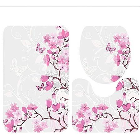 Stylish Floral Non Slip Bathroom Mats Memory Foam Super Soft Bath Mats Shaggy Rug Floor Mats For Bathroom Living Room Girls Bedroom 50 X 80 Cm Pink Amazon Co Uk Kitchen Home