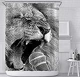 JOVEGSRVA Cortinas de ducha con 12 ganchos de 180 x 200 cm