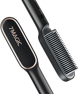 برس مو صاف کننده ، برس صاف کننده با تنظیمات 9 Temp ، صاف کننده مو برس سرامیکی با حرارت سریع 20s ، صاف کننده برس 7MAGIC با ضد جوش