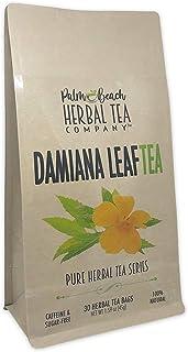 Damiana Leaf Tea - Pure Herbal Tea Series by Palm Beach Herbal Tea Company (30 Tea Bags) 100% Natural