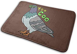 DFREQTI Too Coo Pigeon Antiskid Mats Area Rugs and Carpets