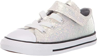 Converse Kids' Chuck Taylor All Star Glitter Velcro Low Top Sneaker