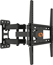 Husky Mounts Full Motion TV Wall Mount for Most 32 37 39 40 42 46 47 50 52 55 Inch LED LCD Flat Screen VESA 400X400 400x200 400x300 200x200 200x100 100x100 Tilt Swivel Articulating Movable TV Bracket