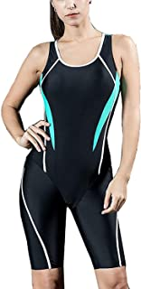 Women's One Piece Boyleg Sports Swimming Sexy Costumes Swimwear, Ladies Built-in Cup Surf Athletic Slimming Swimsuit Bathing Suits Beachwear Soft and Comfortable Without Irritation