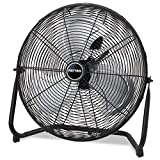 Patton PUF2010CBM High Velocity Fan, 3-Speed, Black, 24-1/2-Inch W x 8-5/8-Inch H Overall Size