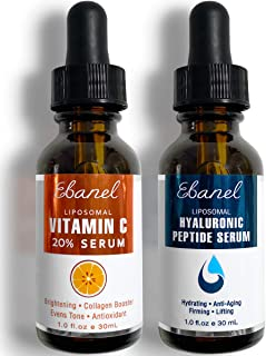 Ebanel Vitamin C Serum Hyaluronic Acid Serum for Face - Ultimate Anti Aging Serum Set - Deep Hydrating, Visibly Plump, Firm & Smooth Skin, Brighten & Even Skin Tone, Reduce Redness & Inflammation