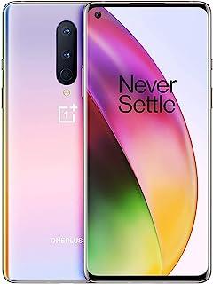 OnePlus 8 (5G) 128GB + 8GB(RAM) 90Hz Display Single SIM IN2017 T-Mobile/Sprint Unlocked Interstellar Glow (with Generic Ch...