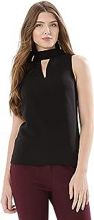 Koovs Black Mixed Neck Fashion Vest For Women