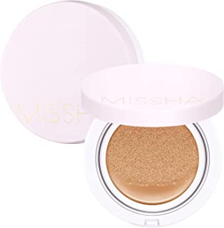 MISSHA MAGIC CUSHION COVER LASTING #27- Long-lasting, high coverage/hydrating cushion foundation