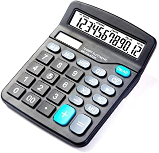 Solar Calculator 12 Digit Large Screen Calculator Financial Accounting Clear Inventory Office Home Stationery Dual Power S...
