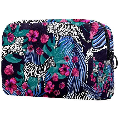 Trousse de toilette portable pour femme, sac à main, cosmétiques et voyage, lapin abstrait
