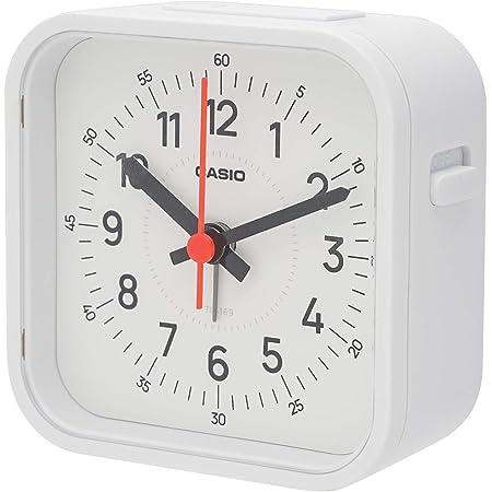 CASIO(カシオ) 目覚まし時計 ホワイト アナログ トラベルクロック LEDライト 付き TQ-169-7JF